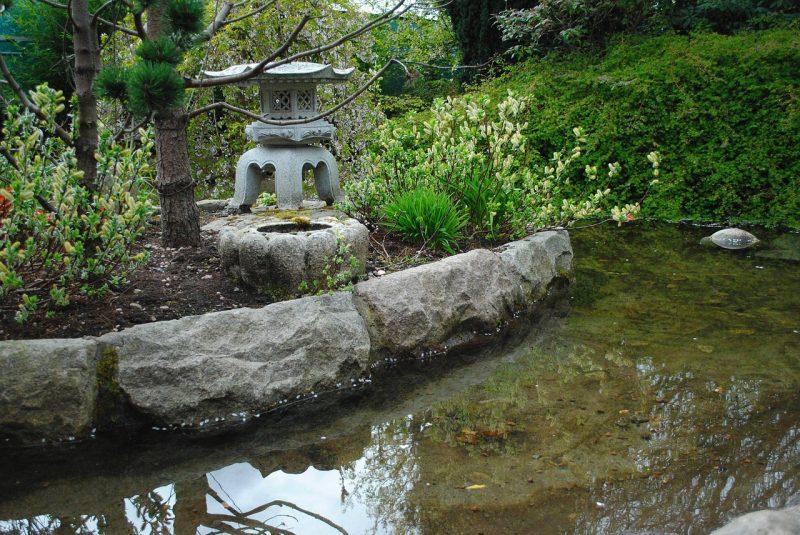 Chinese feng shui garden