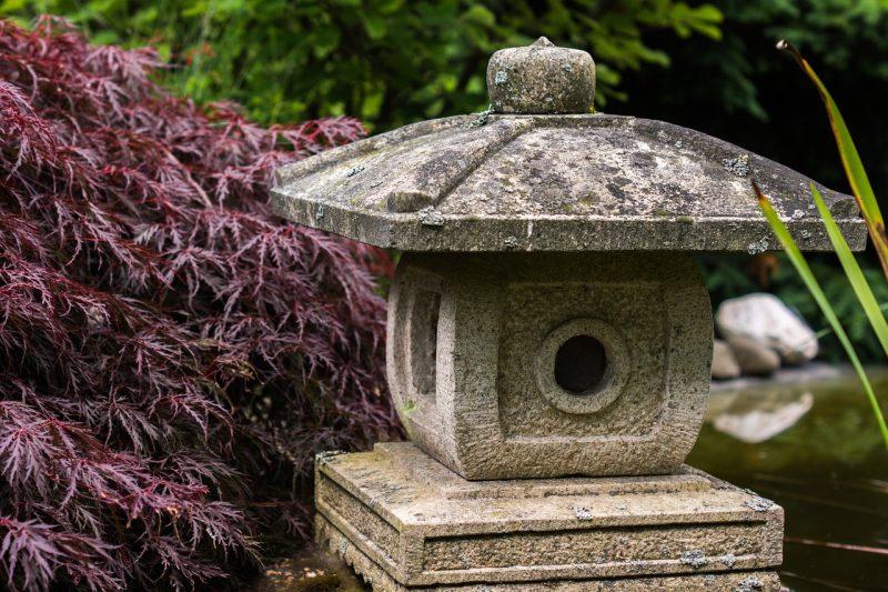 Stone house in feng shui garden