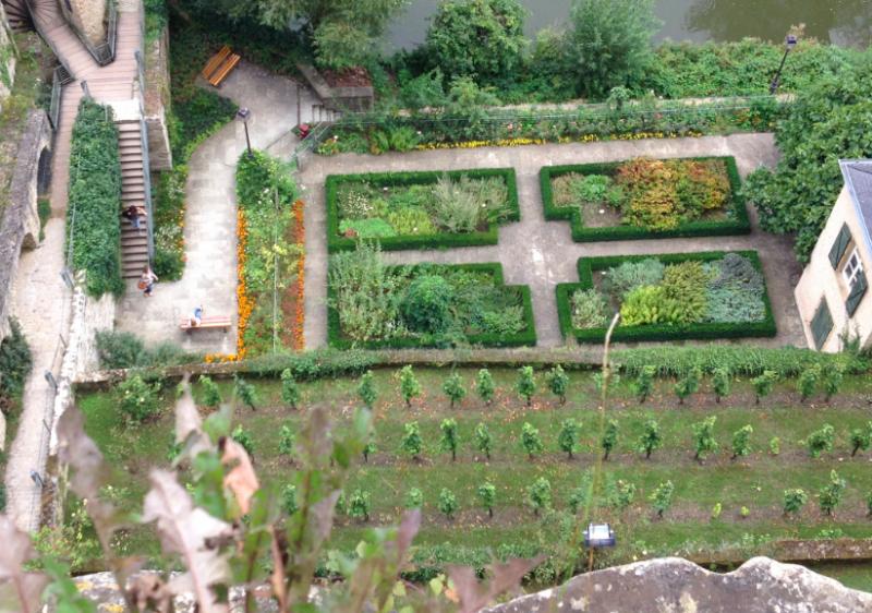 Medieval castle potager garden