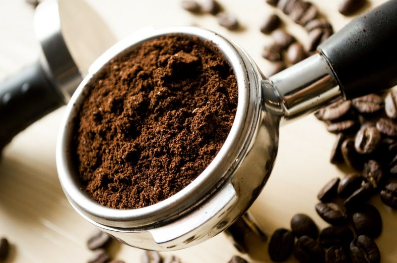 coffee grounds in garden soil