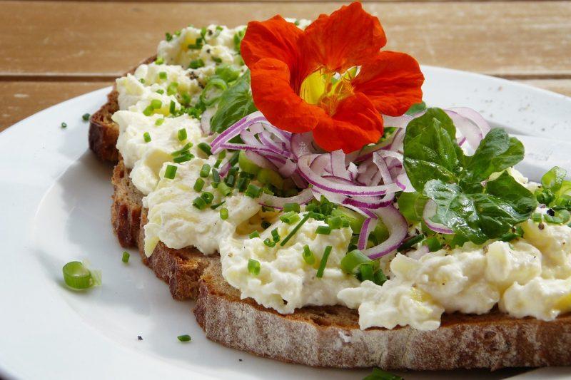 Edible salad garden flowers