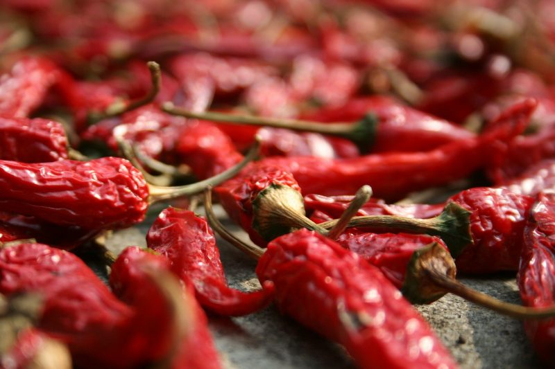how to dry peppers in an oven