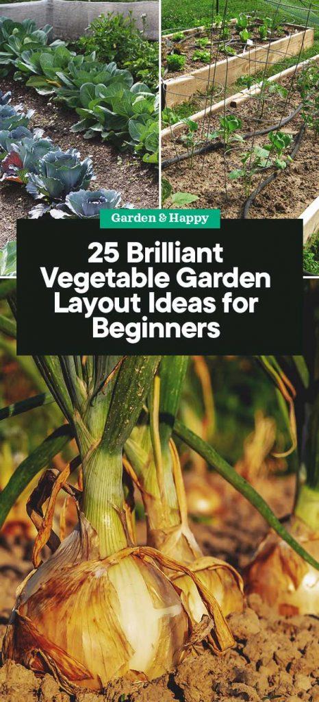 25 Brilliant Vegetable Garden Layout Ideas For Beginners Garden And Happy