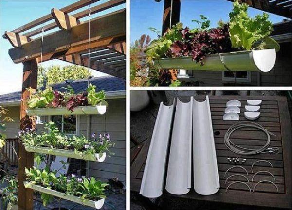 PVC gutter garden