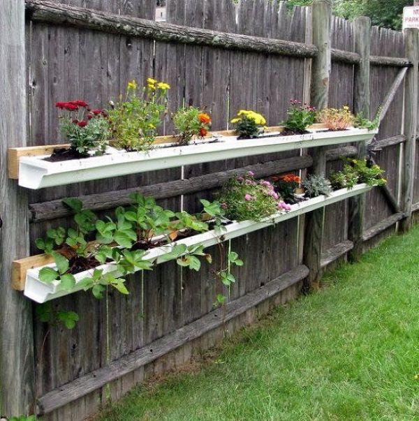 Try These 8 Inventive and Affordable Gutter Garden Ideas