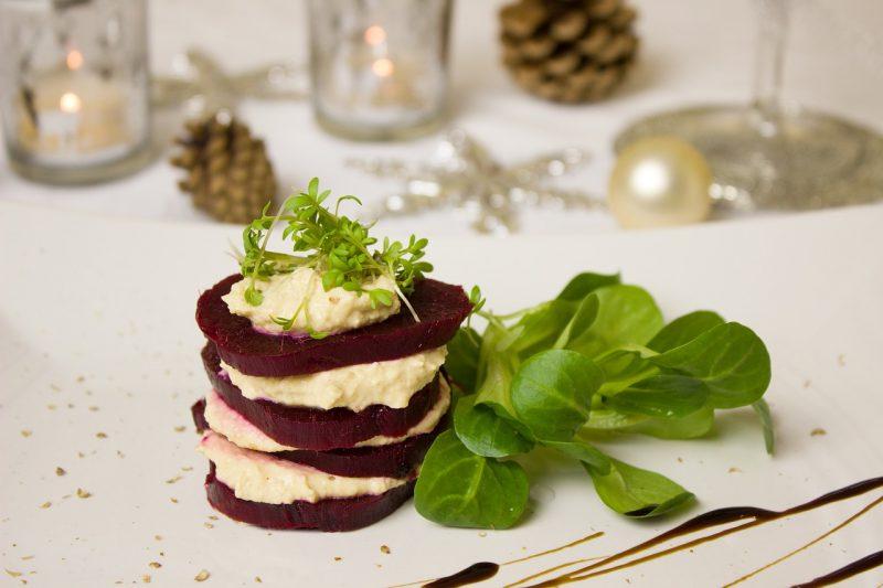 Turnip mash and beets