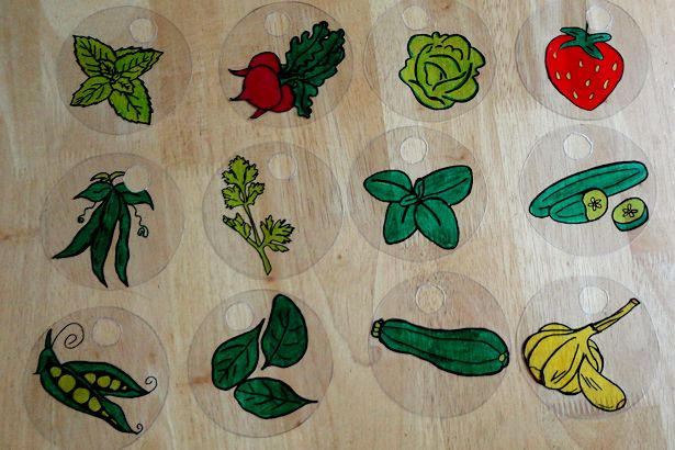 DIY plant markers shrinky dinks