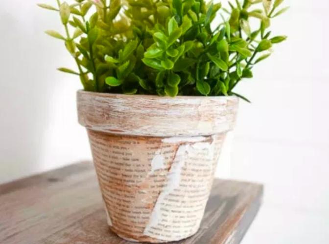 Decoupage painted pot ideas