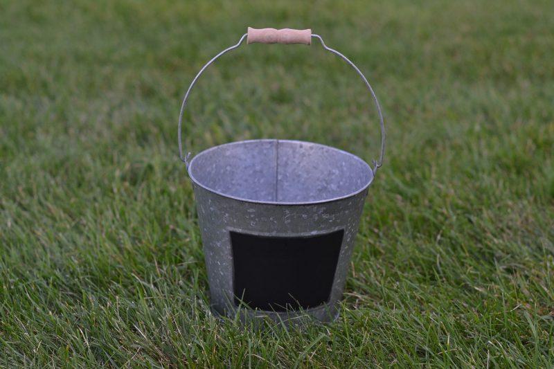 Chalkboard pot pail