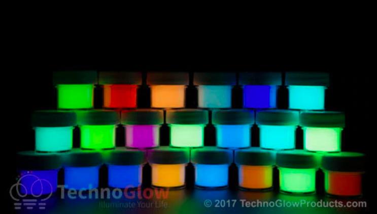 TechnoGlow Glow-in-the-Dark Powders