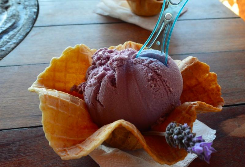 Sage ice cream