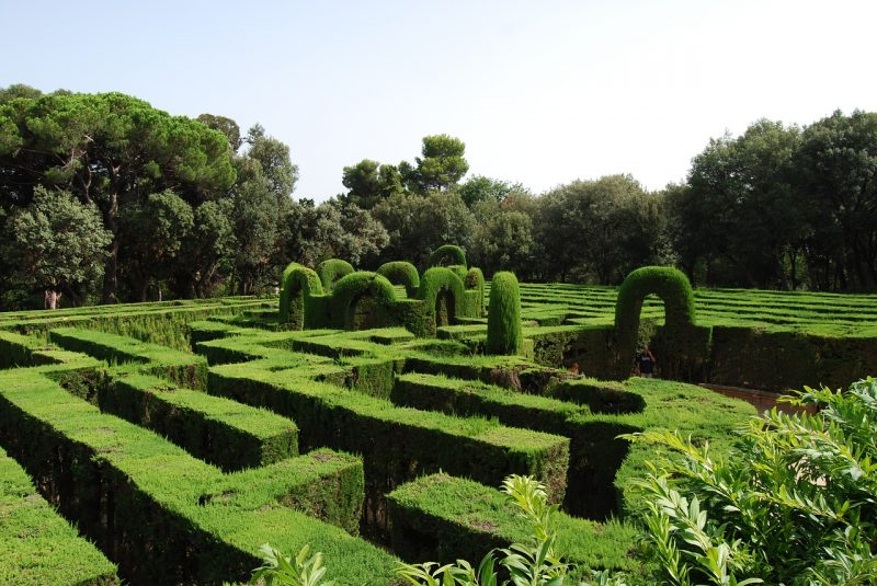 Labyrinth garden layout