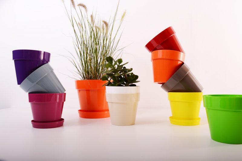 Plastic pots for a homemade compost bin