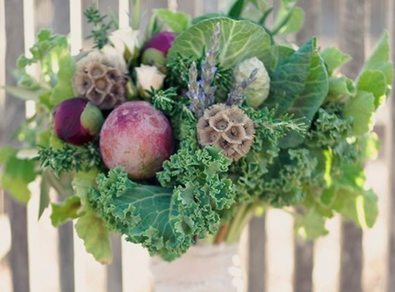 Kale and veg bouquet
